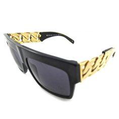 Céline Gold Chain Sunglasses found on Polyvore