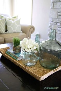 22 espectaculares ideas para decorar mesas de centro.   #mesasdecentro #decorar #decoración #creatividad