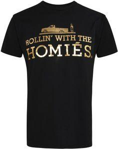 Brian Lichtenberg Homiés black printed cotton T-shirt on shopstyle.co.uk