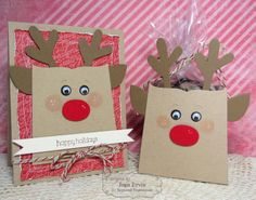 Reindeer Gift Bag Set made with the Sack it to You dies and Sack It-Reindeer dies from Taylored Expressions