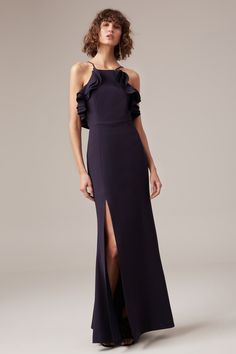 C/MEO COLLECTIVE OUTLINE GOWN navy