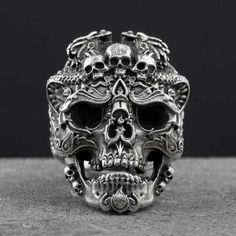.925 Silver Skull rings for man