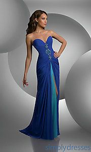 Buy Shimmer Strapless Sweetheart Prom Dress at SimplyDresses