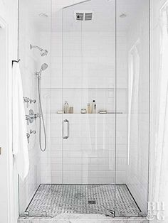 Classy and Modern Bathroom Shower Tile Ideas. 38 Classy and Modern Bathroom Shower Tile Ideas. 48 Classy and Modern Bathroom Shower Tile Ideas Tile Walk In Shower, Glass Shower Doors, Shower Arm, Shower Floor, Glass Doors, Glass Walls, Glass Showers, Shower With Bench, Bathtub With Glass Door