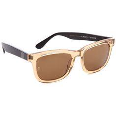 2992ae53ee7 Wonderland Mojave Sunglasses - Clear Beach Glass Black found on Polyvore  Sunglass Frames