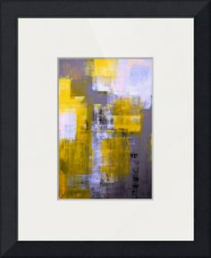"""Instant"" by CarolLynn Tice, Sacramento // Grey and Yellow Abstract Art Painting // Imagekind.com -- Buy stunning fine art prints, framed prints and canvas prints directly from independent working artists and photographers."