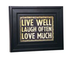 Live Well Frame