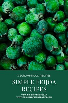 3 simple feijoa recipes to spice up your feijoa game. Reduce Waste, Fruit Recipes, Spice Things Up, Easy Meals, Spices, About Me Blog, Game, Vegetables, Simple