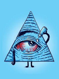 Red eyes.