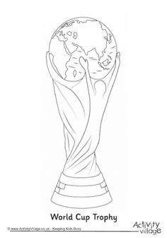 World Cup Trophy Colouring Page World Cup 2014, Fifa World Cup, Mundo Tattoo, World Cup Draw, Cup Tattoo, Cover Tattoo, Soccer Tattoos, Football Silhouette, Football Coloring Pages