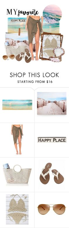 """""""The Beach!!"""" by nicoleof83 ❤ liked on Polyvore featuring Graham & Brown, Seafolly, Primitives By Kathy, Mark & Graham, Volcom and Tory Burch"""