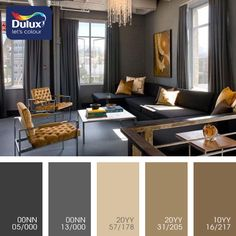 Concise, sophisticated, and very serious interior based on anthracite, graphite color is even and comfortable thanks to the use of caramel, brown and beige shades. Neutral tones particularly pleasing to the eye, tired of flashing signs metropolis. In this room, you can sit in comfort, escape from the city, or to concentrate on work. This stylistic decision works well for interior room, working room.