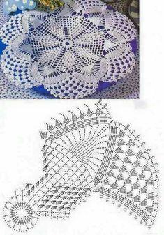 Home Decor Crochet Patterns Part 165 - Beautiful Crochet Patterns and Knitting Patterns Crochet Mandala Pattern, Crochet Doilies, Thread Crochet, Crochet Stitches, Knitting Patterns, Crochet Patterns, Crochet Home, Chrochet, Beautiful Crochet