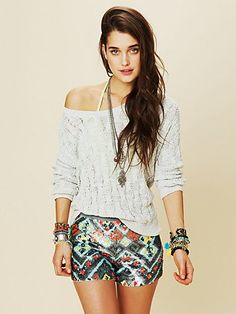 Sequinced shorts