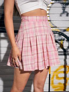 Tartan Print Mini Pleated Skirt for Sale Australia| New Collection Online| SHEIN Australia Pink Skirt Outfits, Pleated Skirt Outfit, Cute Girl Outfits, Plaid Skirts, Mini Skirts, Women's Skirts, Skirts For Sale, Elastic Waist Pants, Tartan