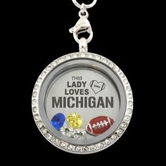 This Lady Loves Michigan Football Charm Necklace, Order HERE ==> https://www.sunfrog.com/Sports/This-Lady-Loves-Michigan-Football-Charm-Necklace-Guys-Black.html?id=41088 #christmasgifts #xmasgifts #footballlovers