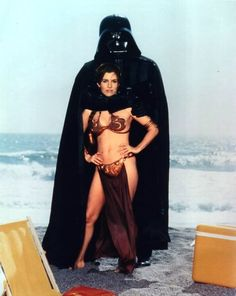Darth Vader and Leia Get...Close. Which is incredibly weird all by itself, but when you remember that this was released in the same summer as Return of the Jedi - meaning someone who knew the twist that they were father and daughter must have approved this shot - it's all the more magnificent.