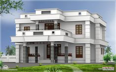 flat roof homes designs   ... BHK modern flat roof house design - Kerala home design and floor plans