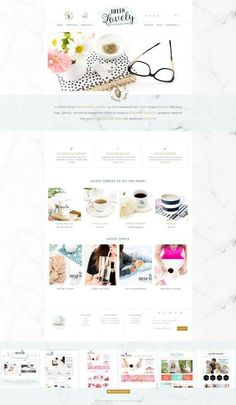 Hello Lovely Genesis Wordpress Theme Themes Hello Lovely - An Everything Theme - Our most featured packed wordpress theme to date! eCommerce, Po by Hello You Designs Design Web, Design Blog, Your Design, Design Layouts, Graphic Design, Design Templates, Mobile Responsive, Responsive Layout, Custom Badges