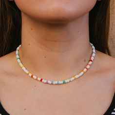 Shop affordable, handmade jewelry and accessories from Macey Lauraine. Beaded Choker Necklace, Diy Necklace, Beaded Bracelets, Beaded Chocker, Necklace Ideas, Embroidery Bracelets, Beaded Anklets, Seed Bead Necklace, Pendant Necklace