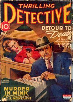 Pulp Magazine, Magazine Art, Magazine Covers, Vintage Book Covers, Comic Book Covers, Comic Books, Pulp Fiction Book, Mystery Novels, Book Cover Art