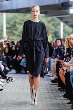 IMRECZEOVA SS18 silk shirt dress with zig-zag hem Silk Shirt Dress, 60 Degrees, Zig Zag, Runway, Shirts, Dresses, Fashion, Dress, Cat Walk