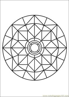 Zen Mandala with little designs - Mandalas with Geometric patterns - Mandalas Zen & Anti-stress - Page 2 Geometric Patterns, Mosaic Patterns, Mandala Coloring Pages, Coloring Pages To Print, Coloring Books, Colouring, Mandala Pattern, Zentangle Patterns, Stencils Mandala