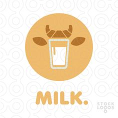 This kind of font is appealing to me for this project, and I still have to figure out why. Cow Logo, Brewery Logos, Milk Brands, Milk Packaging, Make Your Own Logo, Initials Logo, Premium Logo, Logo Sign, Logo Maker