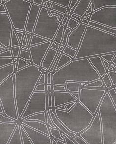 "#houseofdecor | Paris Les Rues Map Carpet. ""Where Are We Going"" Collection from the Nought Collective."