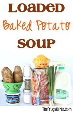 Loaded Baked Potato Soup Recipe! ~ from TheFrugalGirls.com ~ this easy recipe is SO delicious and perfect for a chilly day! #bacon #recipes #thefrugalgirls