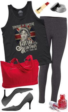 Who says readers can't be rockers? Pair this cool retro style Jane Austen tank top with your favorite tights, rockin' red lips & nails, and a pointy heel and you're sure to attract your very own Mr. Darcy in no time! Printed on soft 100% combed, ringspun cotton with eco-friendly water-based inks. $25.00 from #Boredwalk, plus free U.S. shipping. Click to purchase!