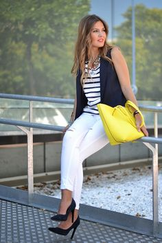 NAVY AND YELLOW   Mi aventura con la moda