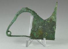 Greek bronze brooch Greek fibula, 6.2 cm long and 4.7 cm high. Private collection