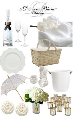 diner en blanc inspiration, white picnic, summer picnic, white party ideas, diner en blanc picnic