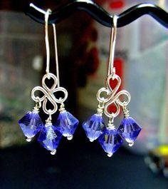 Jewelry Tutorials Earrings Crystal Wire Loop por JewelryonPicadilly