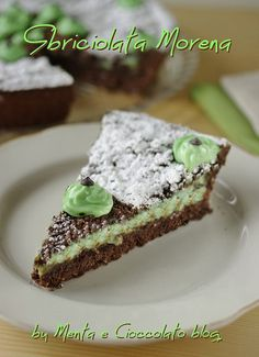 Sbriciolata Morena alla Menta e Cioccolato Delicious Cookie Recipes, Yummy Cookies, Dessert Recipes, Menta Chocolate, Chocolate Desserts, Nutella, Mint Desserts, Mint Cake, Sweet Cakes