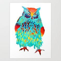 Owl Art Print by Lea.I - $15.00