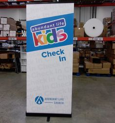Abundant Life Church made this cute banner for their children's check in! Kids will feel so welcomed!