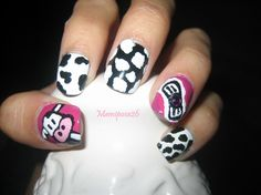 Acrylic Nails Polish: Cow Acrylic Nail Design Ideas ~ Acrylic Nails Inspiration