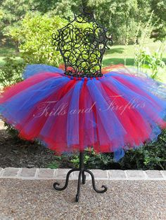Hey, I found this really awesome Etsy listing at https://www.etsy.com/listing/159668759/beautiful-blue-and-red-supergirl-tutu-in