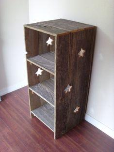 Large Wood Bookcase. Star Wood Shelf Country Wood Shelf Large Storage Shelf:) Primitive Furniture. Country Home Decor. Farm House Bookcase. $550.00, via Etsy.