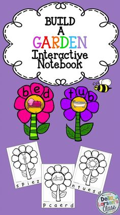 This Build a CVC Garden Interactive Notebook packet will make the perfect addition to any phonics or literacy block! This CVC interactive notebook uses 30 different CVC words each designed so you can build a flower. There are also 30 word wall cards that you can use as flashcards, on a word wall, or in a center as play doh mats.