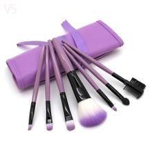 Professional 7 PCS Makeup Brushes Set Tools Make-up Toiletry Kit Wool Brand Make Up Brush Set Case Cosmetic Foundation Brush