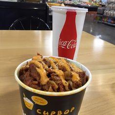 Cupbop Korean BBQ - Rexburg, ID, United States. Spicy pork cupbob with chapchae!