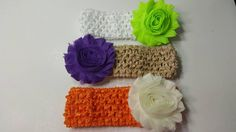Check out this item in my Etsy shop https://www.etsy.com/listing/280168374/flower-headbands-for-baby-girl-you-chose