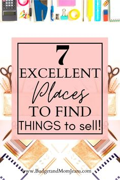 Selling Apps, Selling Online, Homemade Skin Care, Diy Skin Care, Where To Sell, Cash From Home, 7 Places, Sell Your Stuff, Frugal Tips