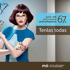 57b41b46eb Ofertas MultiOpticas · 2014'03 Gafas mó con cristales antireflejantes.  Tenlas todas! 67 €