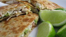 Crab, Bacon, and Avocado stuffed quesadilla's!! OMG  2 whole wheat tortillas  2 oz lump crab meat  1 slice bacon, fried and crumbled  2 slices avocado, chopped  1 tablespoon chopped shallots  1/4 cup low-fat, shredded mozzarella cheese  1 slice pineapple, chopped  Combine all ingredients, except for tortillas and cheese in a bowl.  Heat a skillet on medium heat and spray with cooking spray. Assemble tortillas with ingredients in between. Make sure there is cheese on both the bottom of one…