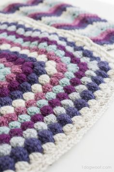Here's a flexible pattern for a beautiful bobble stitch afghan square. It's part of a blog hop CAL, so hop on!