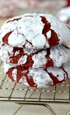 Red Velvet Crinkle Cookies...cream cheese makes these incredibly fudgey and chewy